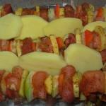 Szaszłyki z ziemniakami