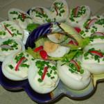 Jajka z majonezem i szczypiorkiem