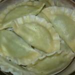 Pierogi z serem i szpinakiem